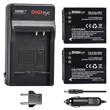 DIGIeye CGA-S005 S005E - Juego de 2 baterías y Cargador para ...