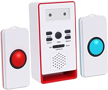 InnoGear Wireless One Remote Two Call Button Pager Alarm Mas