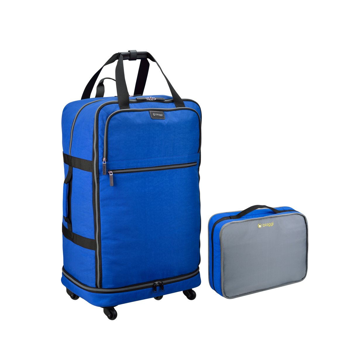 Biaggi Luggage Zipsak 27 Micro Fold Spinner Suitcase Suitcase, Black 631127-BK