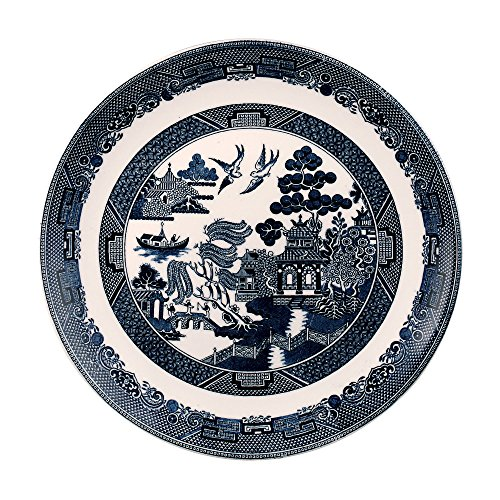 "UPC 091573450330, Johnson Brothers Willow Blue Dinner Plate 11"", Blue"