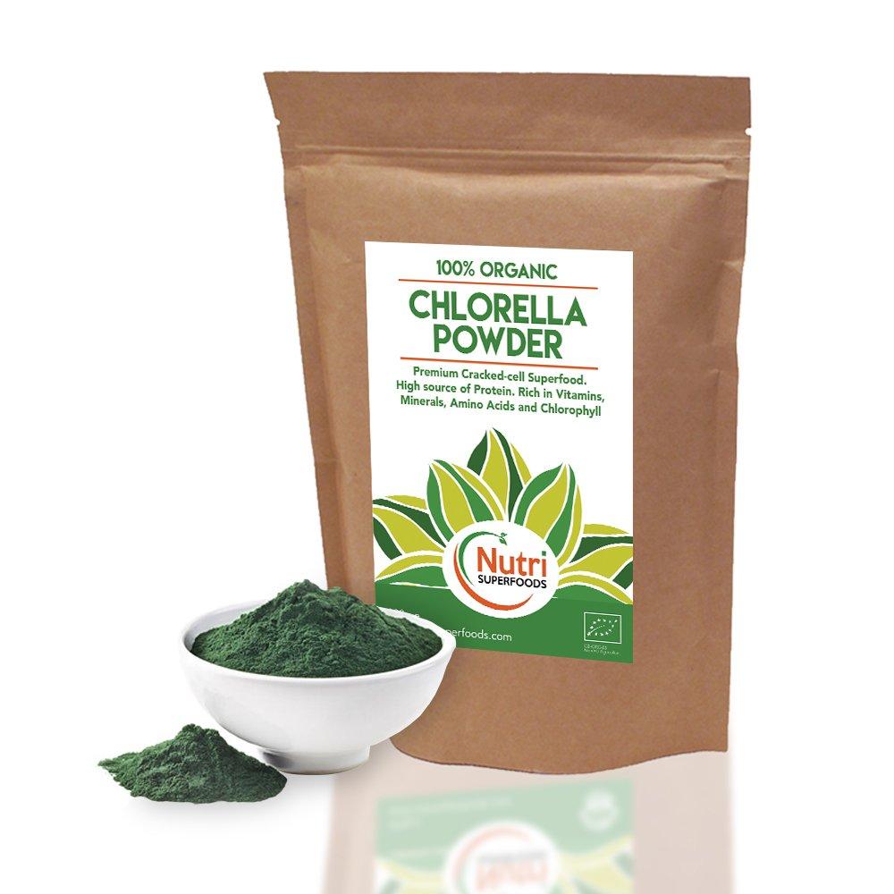 Chlorella En Polvo, Pared Celular Rota, Orgánica, Rica en Proteínas Vegetales, Aumenta la Energía, Equilibra las Hormonas y ayuda reducir el Colesterol y el ...