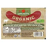 Applegate Organic Uncured Beef Hot Dog, 14 Ounce (Pack of 12)