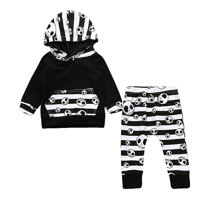 Bestow Tops con Capucha Pantalones Trajes BebšŠ de Manga Larga Traje de SušŠter con Estampado de Calavera de Halloween Toddler: Amazon.es: Ropa y accesorios