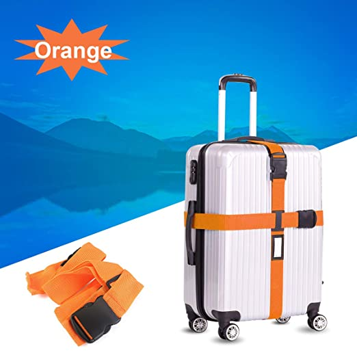 VORCOOL Cross Estilo Suitcase Luggage Bag Strip Stripe (Naranja ...