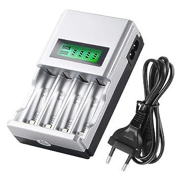 Cargador de batería AA y AAA para baterías Recargables con ...