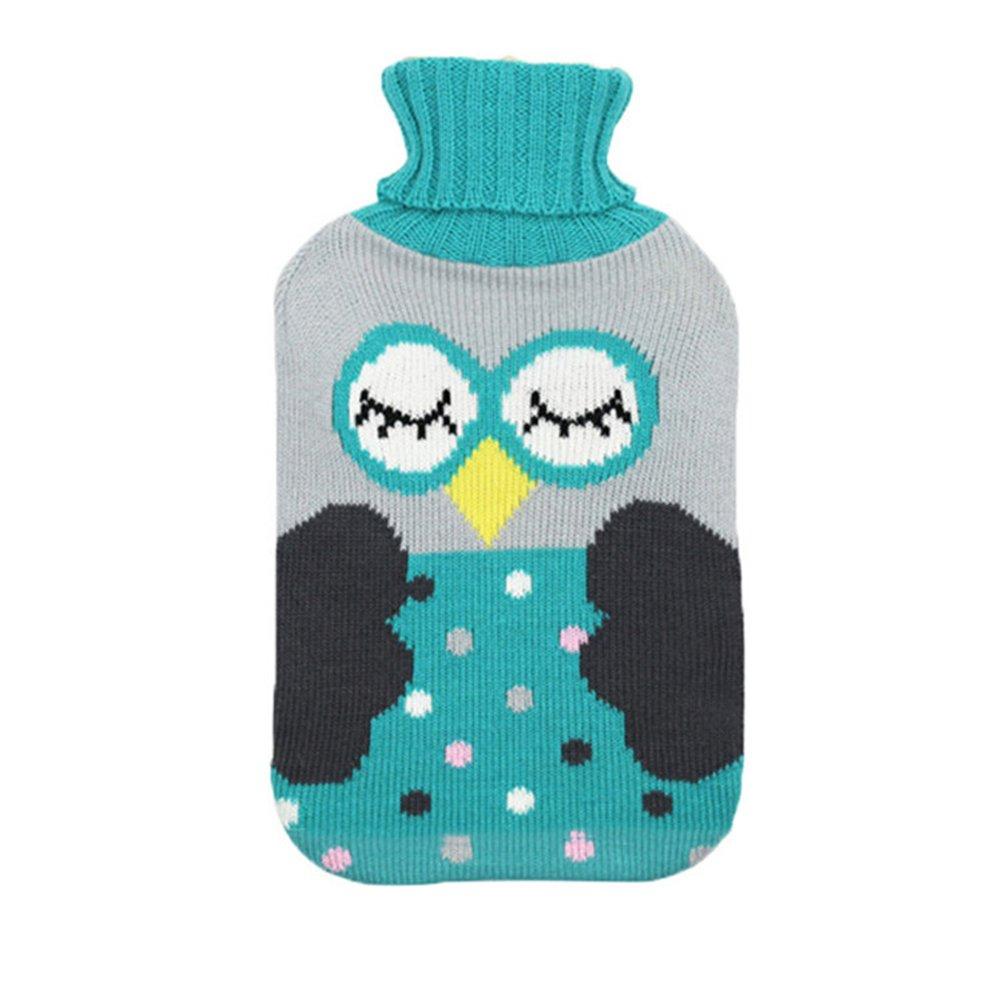 blau Wiederverwendbare rosenice 2/Liter W/ärmflasche mit Strick/überzug mit f/ür Schmerzbehandlung und W/ärme