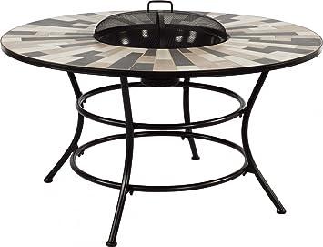 Dreams4Home Gartentisch \'Luke\' - Tisch mit Feuerstelle, Tisch mit ...