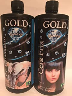 Queratina Gold Diamond, Cera Fría 1 Litro (Shampoo and Queratina)
