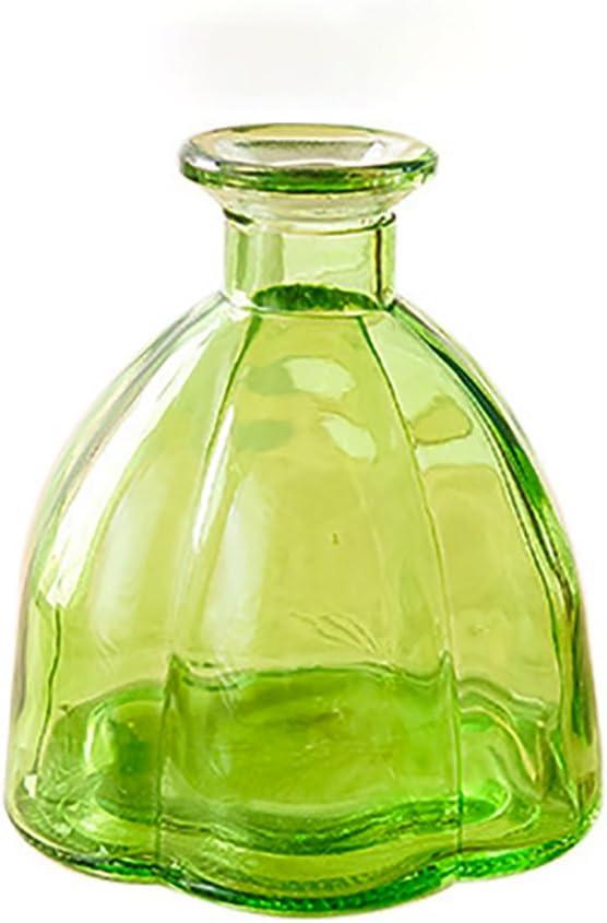 Laat Retro calabaza botellas de cristal jarrón decoración de boda/Casa/Hotel/banquet, cristal, verde, Bas: 10 cm, Hauteur: 10.9cm , Calibre: 1.8 - 4cm