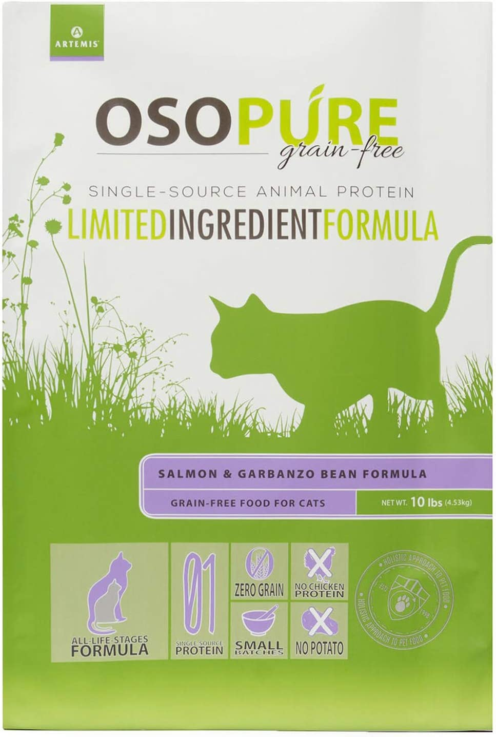 Artemis OSOPURE Dry Pet Food - Grain Free Limited Ingredient Single Dual Source Protein Nutrition All Life Stages for Dog Cat