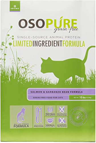 Artemis OSOPURE Healthy Cat Food – Grain Free Limited Ingredient Formula Protein Nutrition Dry and Canned for All Life Stages