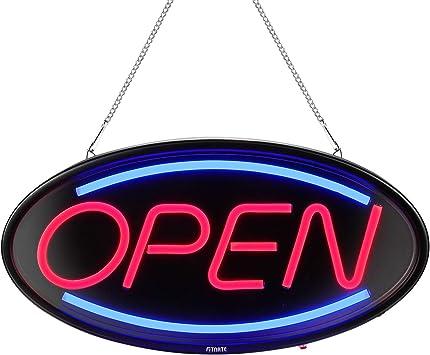 Amazon.com: Fitnate - Señal de negocios con luz LED abierta ...
