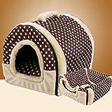 FUGUI - Cama de Perro 2 en 1 para Mascotas, Interior de Tela Suave con cojín extraíble