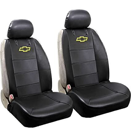 Chevy Bowtie Universal Sideless Seat Cover W Head Rest