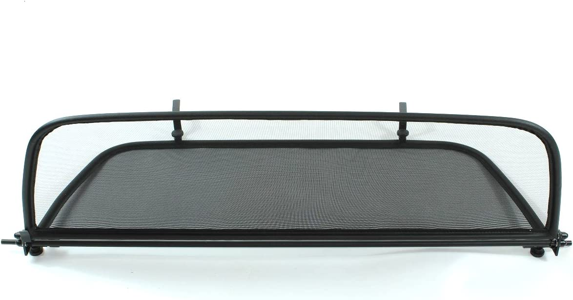 1997-2011 Black - Foldable Wind Blocker Windstop Wind Deflector for Porsche 911//996//997 with Quick Release Fastener