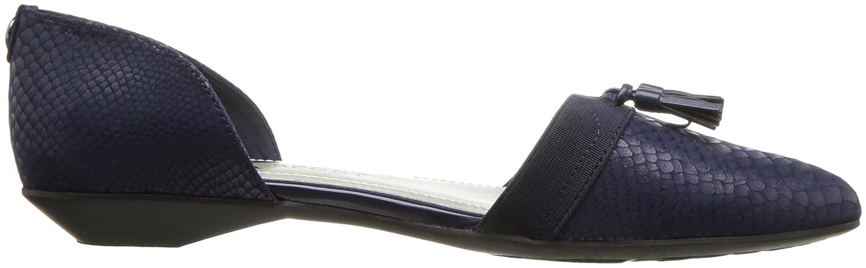 Anne Klein AK Sport Women's Oksie Fabric Ballet Flat B01N9ICZ1E 7 B(M) US|Navy Multi Fabric