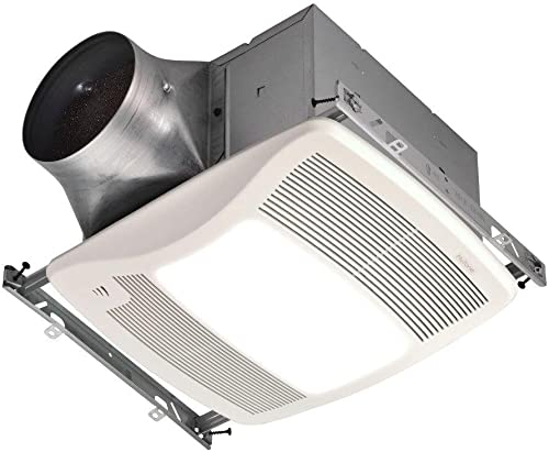 Broan-NuTone ZN110HL Ultra Series 110 CFM Energy Star Bathroom Fan with Light and Humidity Sensing