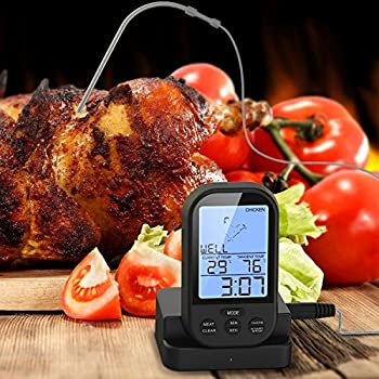 Kangkang@ Wireless Remote Digital LCD Read Kitchen Oven Food Cooking Meat  BBQ Grill Thermometer Probe