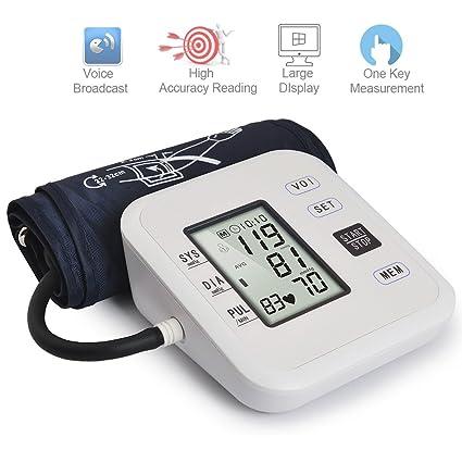 Brazo Monitor de presión sanguínea, dikaou totalmente automáticamente medir con pantalla de pantalla LCD Digital