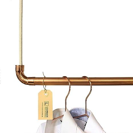 Leanback Industries - Perchero de cobre para ropa, perchero ...