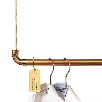 Kleiderstange Deckenbefestigung kleiderstange im industriestil leanback industries aus kupfer
