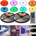 4EverShine LUXURY Led Strip Lighting 10 Meters 32.8 Feet 5050 RGB 300LEDs Flexible Color Changing Full Kit with 44 Keys IR Remote Controller , Control Box + 12V Power Supply for Home, Stage Decorative