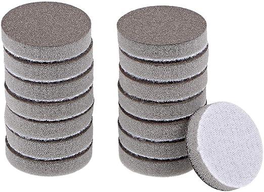 2-Inch 400-Grits Hook and Loop Sanding Disc Sponge Sanding Pad Sandpaper 15pcs