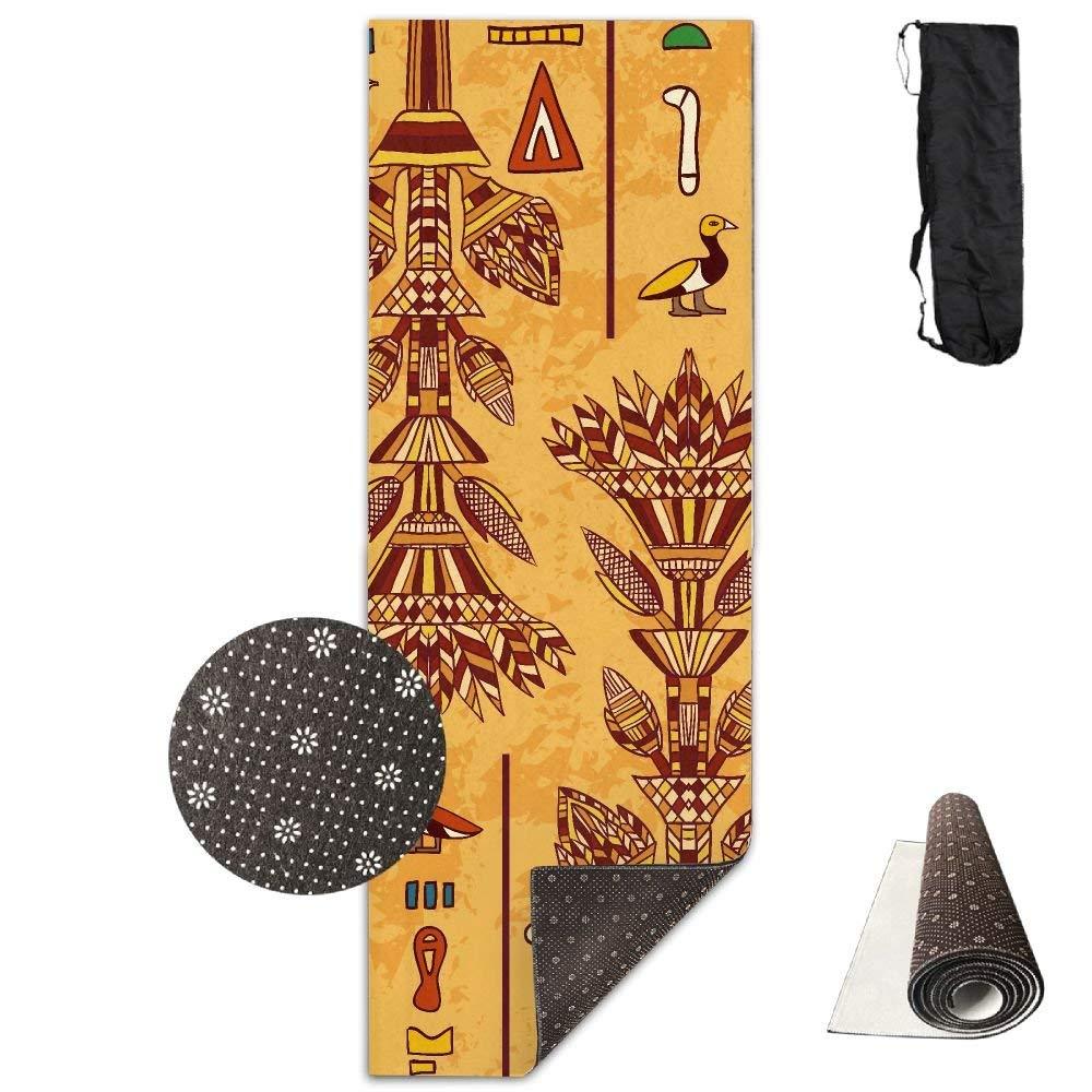 Egypt Colorful Ornament Deluxe,Yoga Mat Aerobic Exercise Pilates Anti-slip Gymnastics Mats