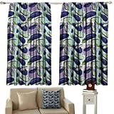 GUUVOR Eggplant 99% Blackout Curtains Luscious Sliced Aubergines in a Multicolored Environmnet Tasty and Natural Life for Bedroom Kindergarten Living Room W52 x L45 Inch Multicolor