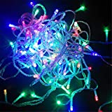 BGFHDSD 8 Modes Display Colorful 100LED 10M Led String Light for Holidays Party Wedding Led Christmas Decoration Lighting Purple 110V US Plug