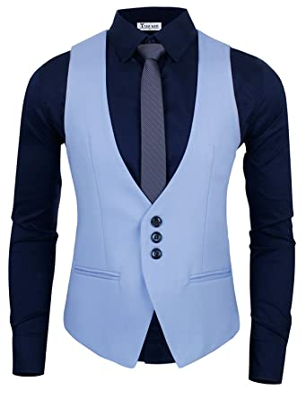 cdeb22c8a86 TAM WARE Men s Modern Slim Fit Tailored Vest at Amazon Men s Clothing store