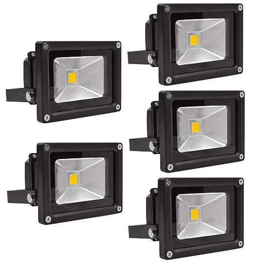 Leetop 5X 10W 20W 30W Negro Blanco Cálido Foco Proyector LED ...