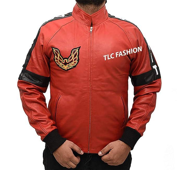 Amazon.com: Chaqueta de piel con bandolera, color rojo ...