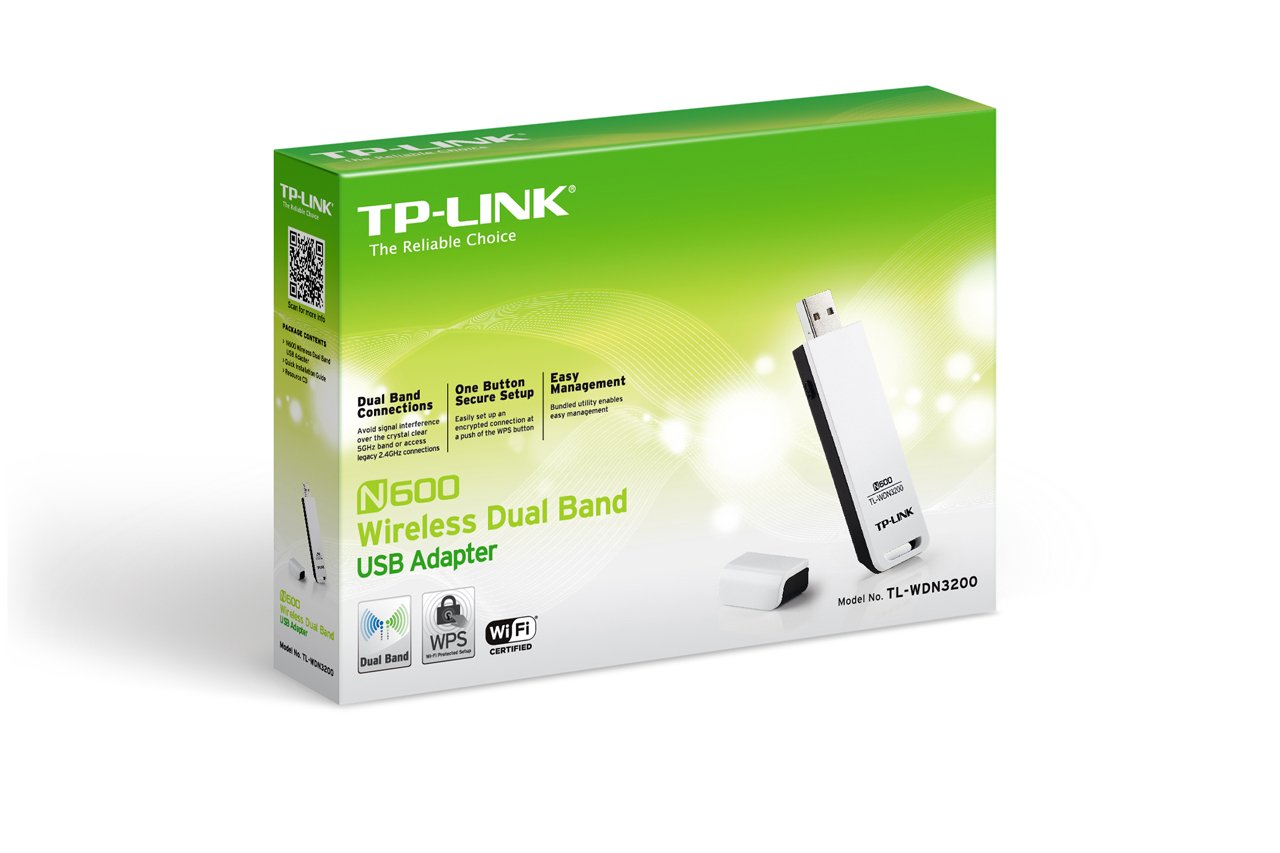 TP-Link N600 Wireless Dual Band USB Adapter (TL-WDN3200) by TP-Link