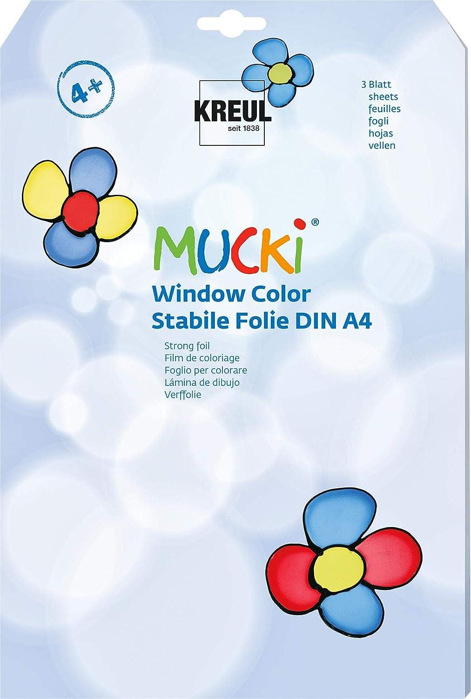 KREUL 42796 Spezialfolie fr Window Color MUCKI, DIN A4