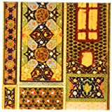 3dRose cst_162526_3 Arabian Style Multicolor Abstract Pattern Colorful Turkish Moroccan Islamic Islam Muslim Art-Ceramic Tile Coasters, Set of 4