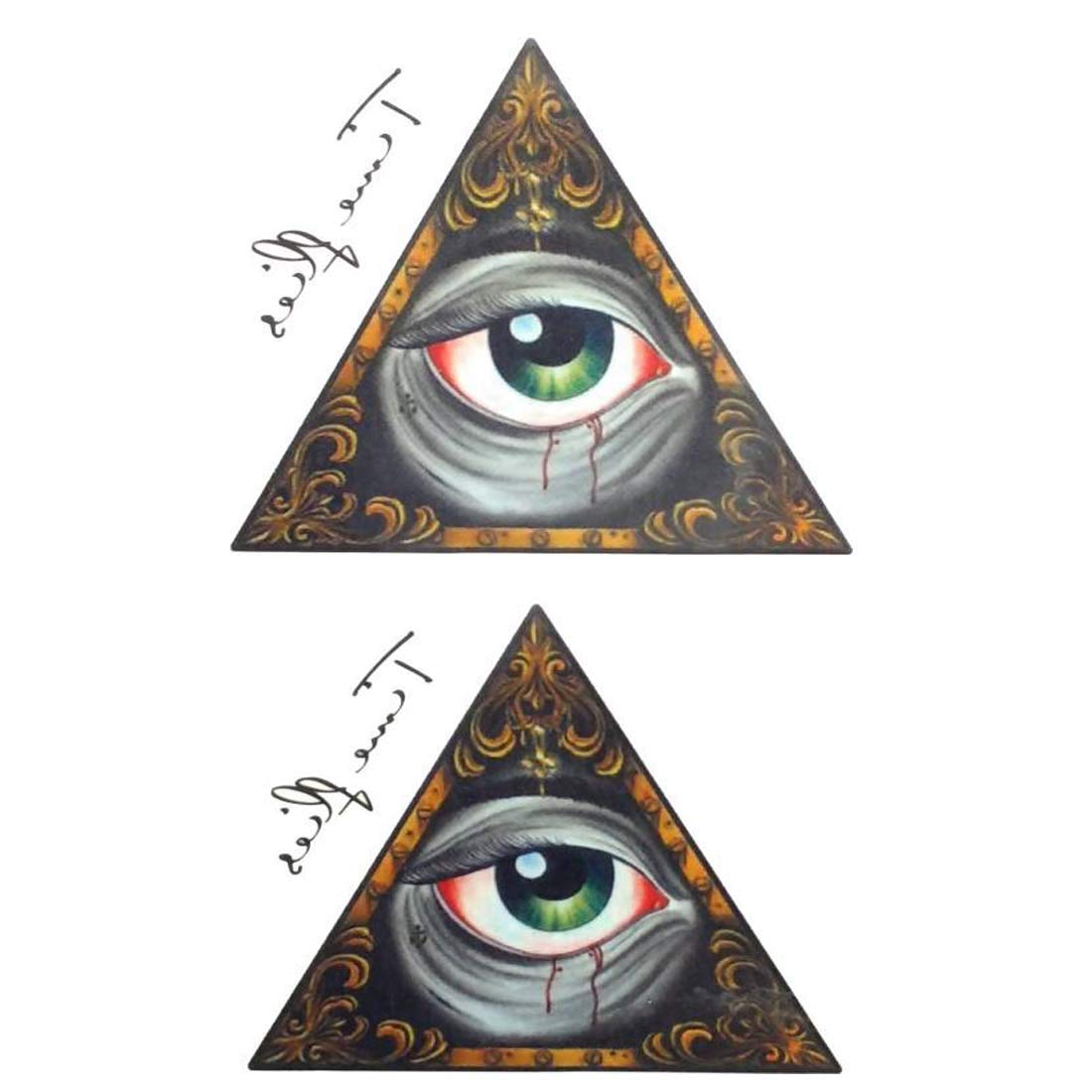 3d Third Eye Arm Hand Wrist Removable Temporary Tattoo Amazon In Beauty