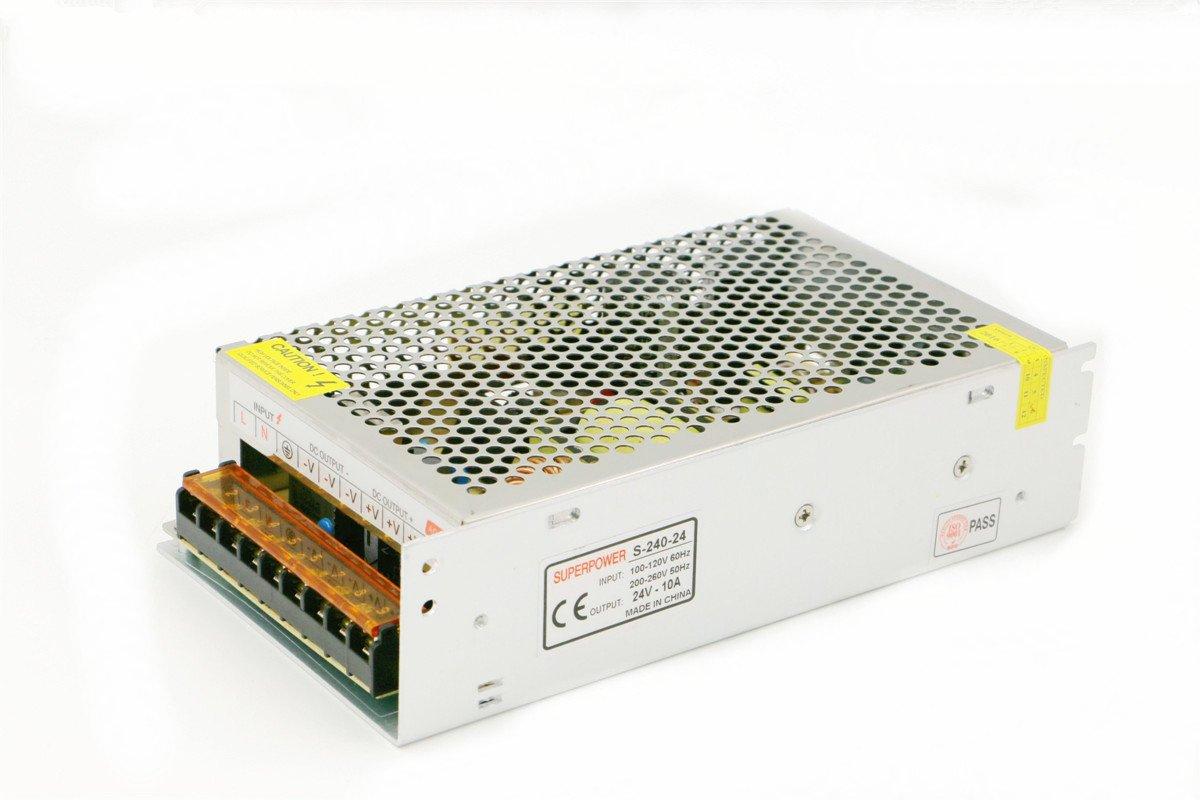 Transformateur MEANWELL Chargeur universel geregelter les courts-circuits et überstromschutz AC100–260V DC24V 10A de NP-45A, 5A