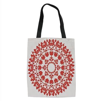 4f278df5dc16 Amazon.com: IPrint Red Mandala,Hungarian Round Folk Art Pattern ...