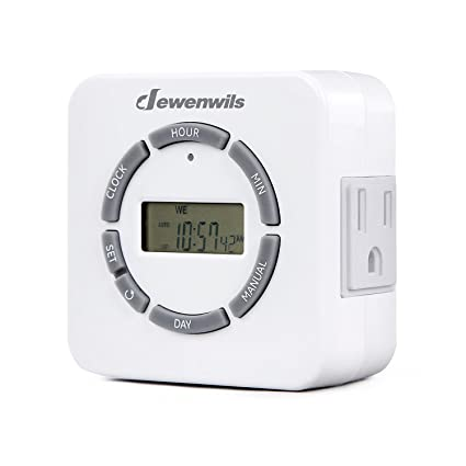 Dewenwils Digital Indoor Light Timer For Electrical Outlets 7 Day