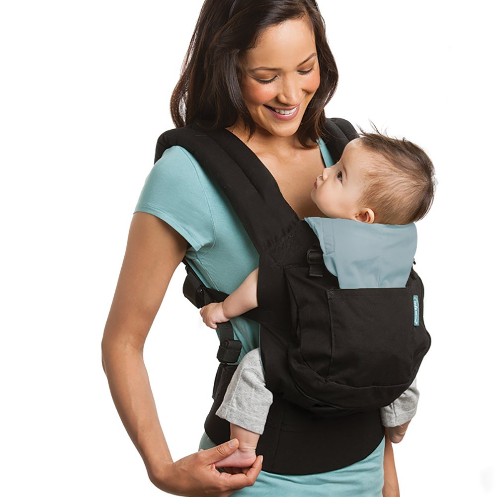 Infantino Roam Ergonomic Carrier, Black, Babies 12-45 Lbs