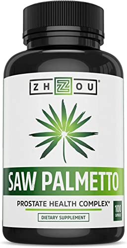 Saw Palmetto Supplement For Prostate Health – Extract Berry Powder Complex – Healthy Urination Frequency Flow Formula – May Help Block DHT – 500mg Capsules