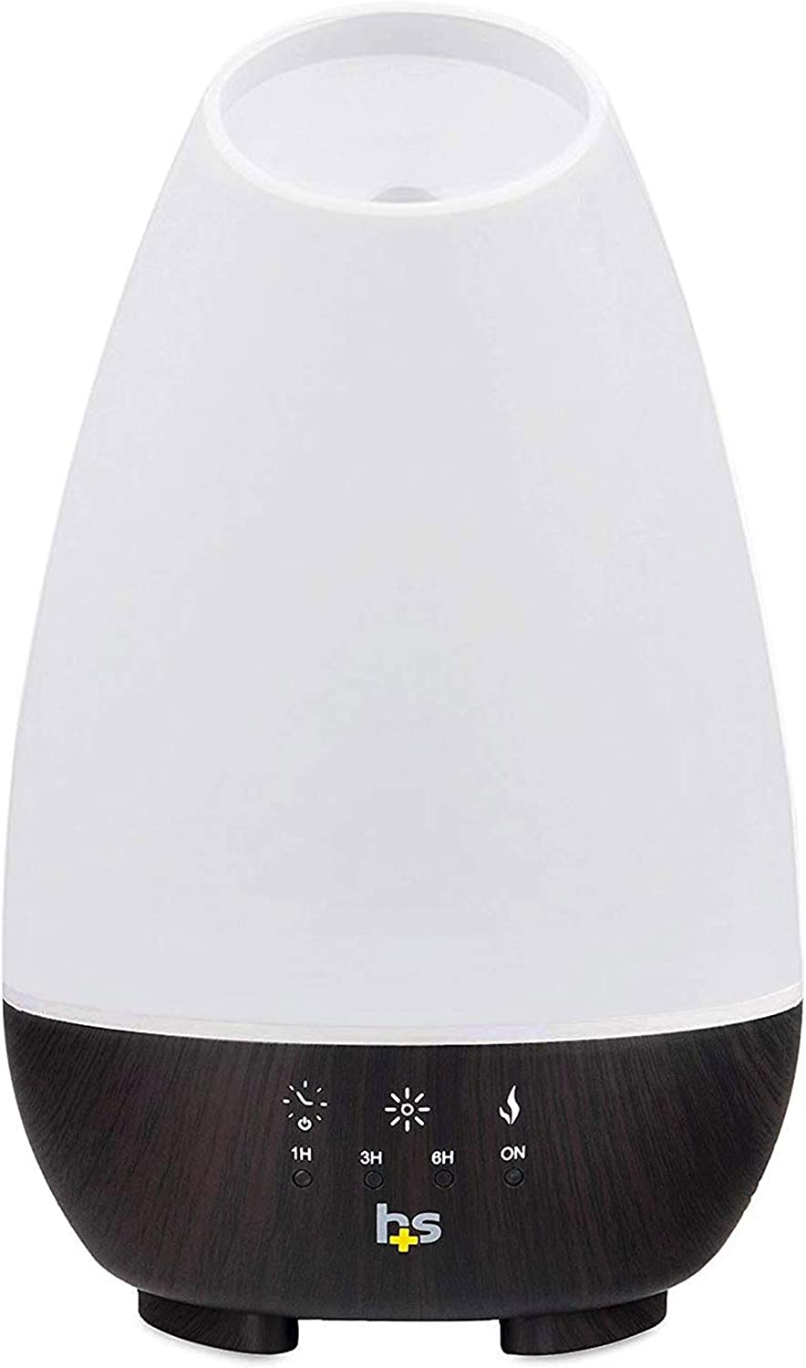 HealthSmart Aromatherapy Essential Oil Diffuser and Cool Mist Humidifier with 500ML Tank Ideal for Large Rooms Features Adjustable Timer, Mist Mode and 7 LED Light Colors, White, 40-500-190