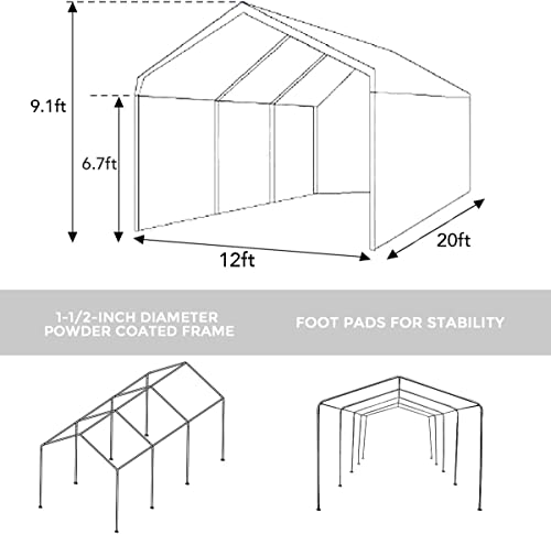 Abba Patio Extra Large Heavy Duty Carport