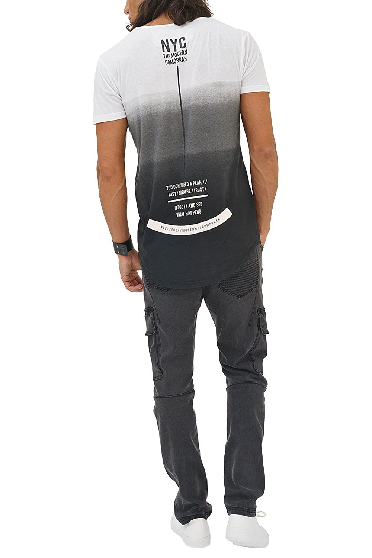 trueprodigy Casual Hombre Marca Camiseta Estampado Ropa Retro Vintage Rock Vestir Moda Cuello V Manga Corta Slim Fit Designer Cool Urban Fashion T-Shirt