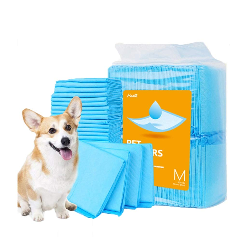 L 60cm60cm 40pcs Dog Pad Pet Training Urinal Pad 6 Layer Super Lock Water Thickening Deodorant Leakproof Predection Floor Dog Absorbent Pee Pads Cat Diaper, Pet Supplies, bluee (Size   L 60cm60cm 40pcs)