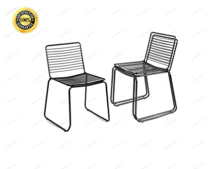 Magnificent Amazon Com Libyou Steel Chairs Dining Chair Metal Dining Home Interior And Landscaping Ologienasavecom