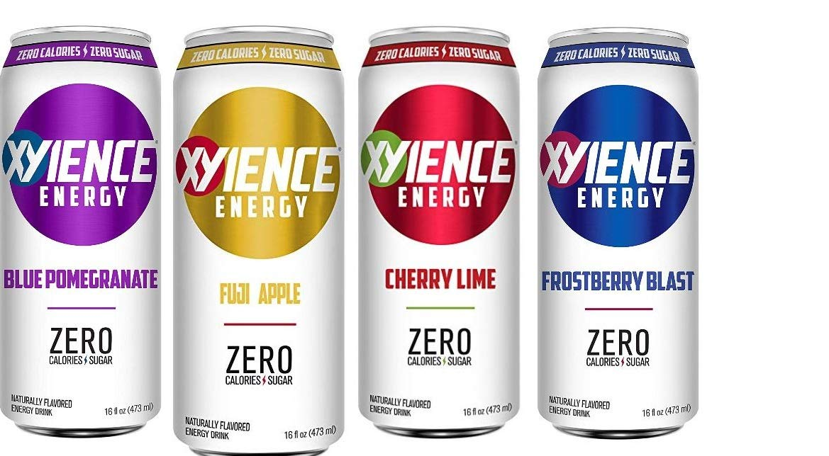 Xyience Variety Pack :Blu Pom, Fuji Apple, Cherry Lime, Frostberry, 16ounce (Pack of 12)