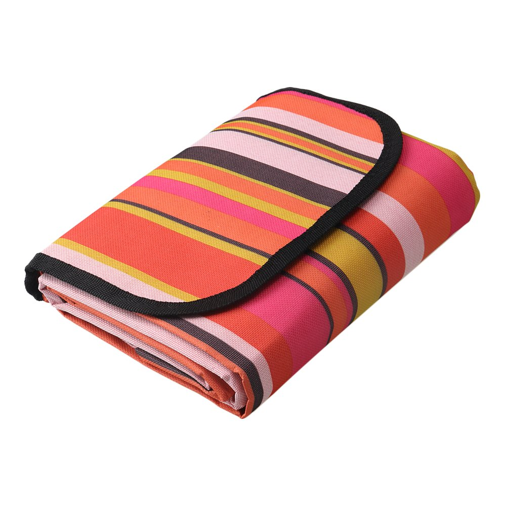 Yibuy Red Foldable Waterproof 1.8x1.5m Picnic Camping Blanket Travel Beach Rug