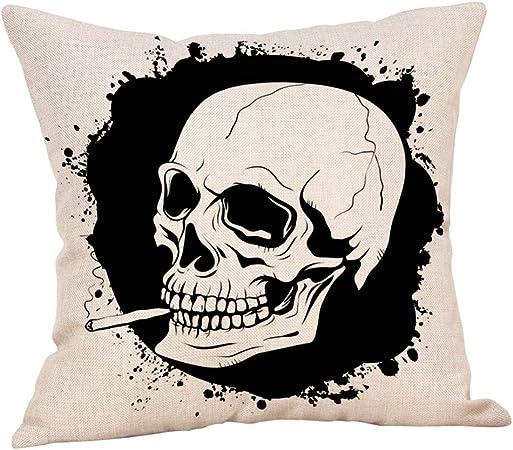 MAYOGO Fundas Cojines Beige 45x45 Fundas para Cojines Estampado Funda de Cojin Pack para Sofa Decoracion Hogar Halloween Decoracion Horror Calaveras: Amazon.es: Hogar